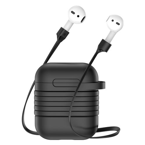 Baseus Protective Case & Magnetic Cable Strap - Apple AirPods - Black